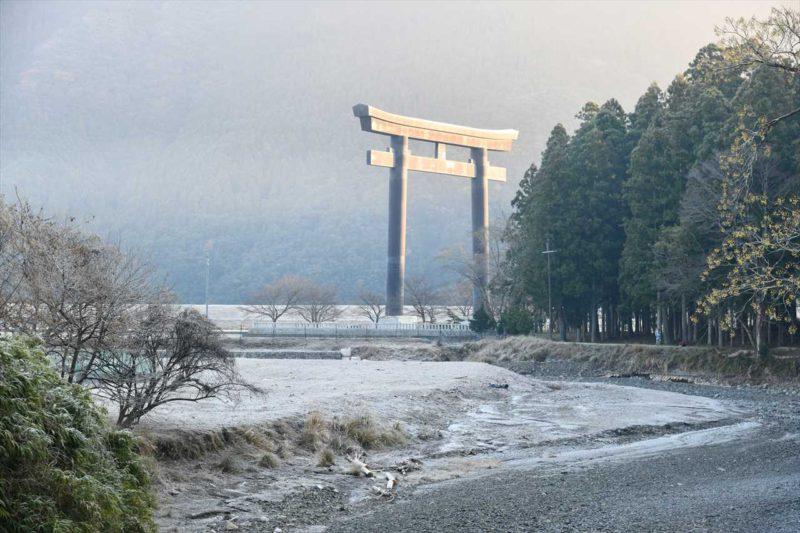田辺市3 凍てつく大鳥居