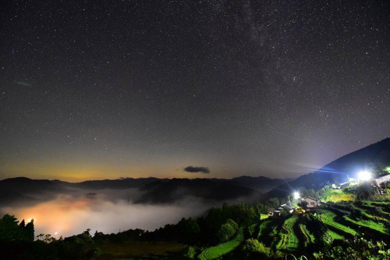 高原の星空