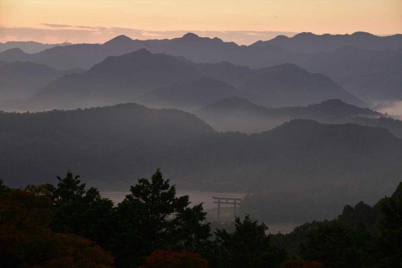 熊野展望台からの大鳥居