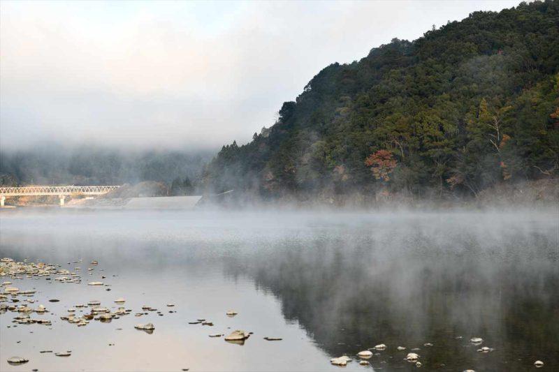 熊野川の川霧